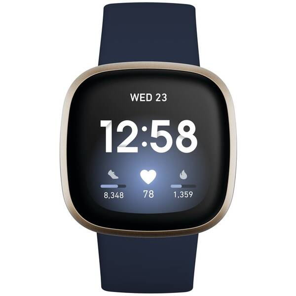 Fitbit Versa 3 - Midnight/Soft Gold Aluminum